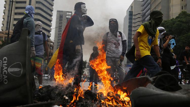 Protestas antigubernamentales en Caracas, Venezuela, en mayo del 2014.
