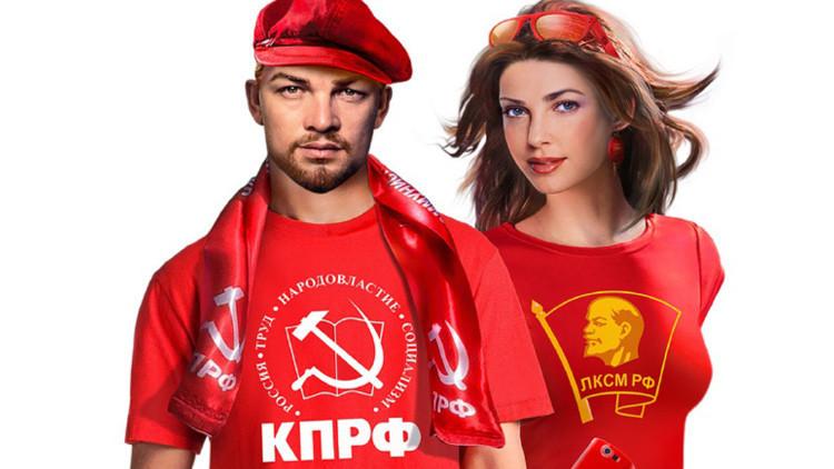 Un Lenin joven y atractivo 'invita' a votar por el Partido Comunista ruso (fotos)