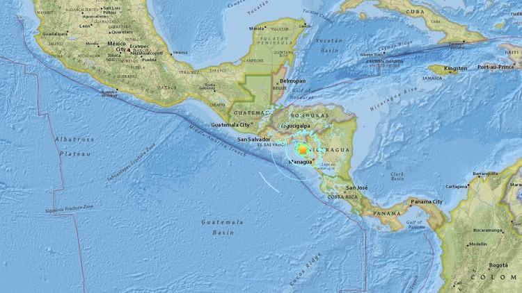 Se registra un sismo de magnitud 6,1 en Nicaragua