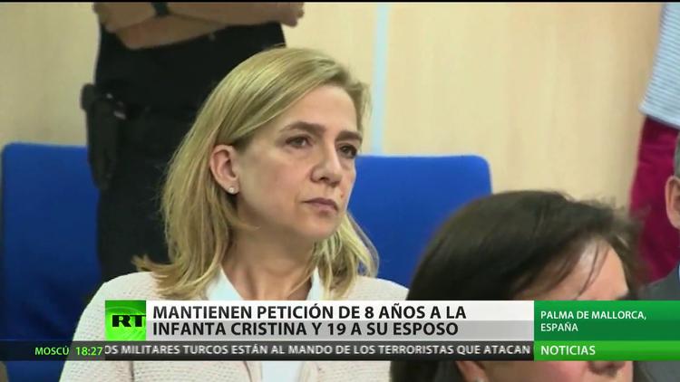 España: Mantienen petición de 8 años de cárcel para la infanta Cristina