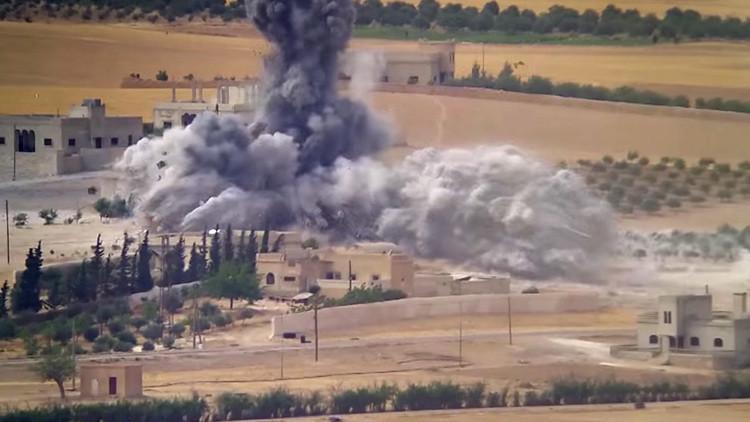 VIDEO: Filman un ataque aéreo contra las posiciones del Estado Islámico