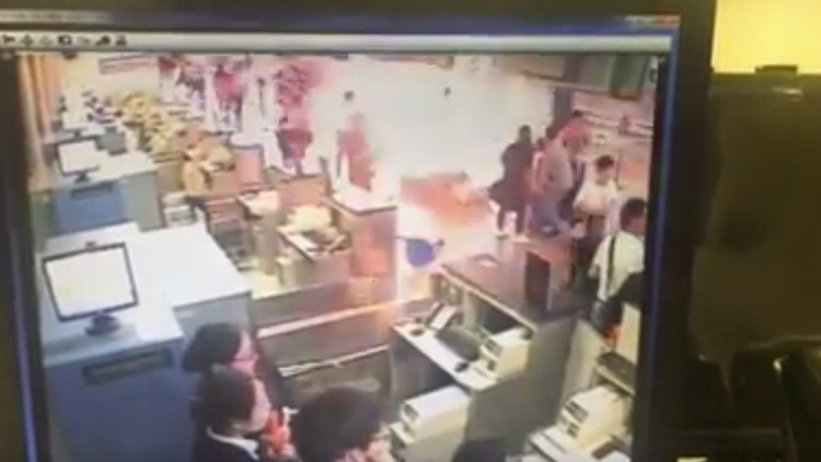 Primer video de la explosión en el aeropuerto internacional de Shanghái