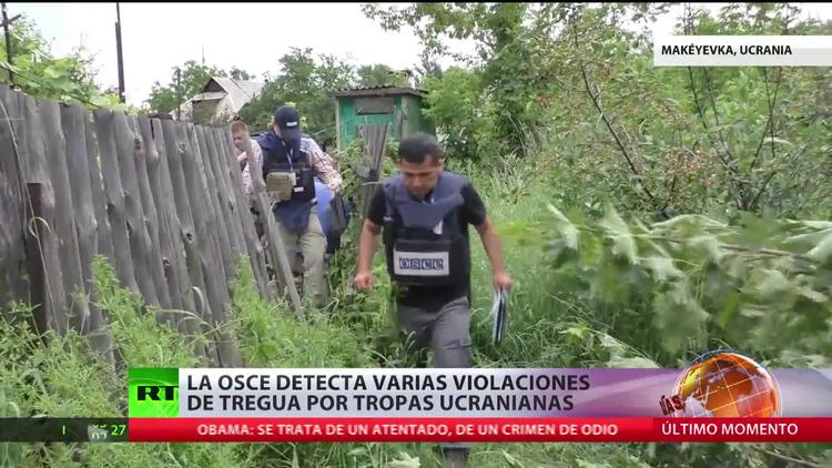 La OSCE detecta varias violaciones de la tregua por tropas ucranianas en Donetsk