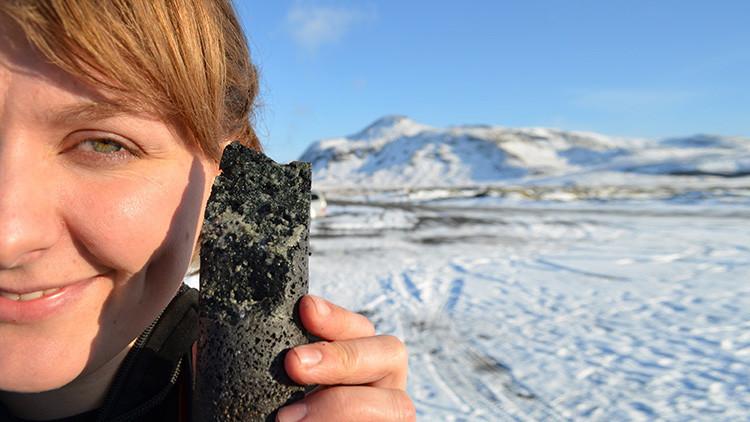 Un experimento convierte el dióxido de carbono en piedra