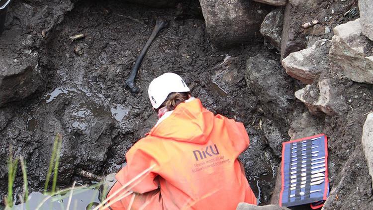 Hallan un esqueleto que confirma eventos mencionados en sagas vikingas