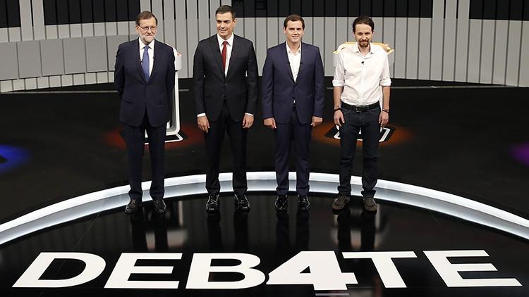 El debate electoral en España: La prensa le perdona la vida a Rajoy