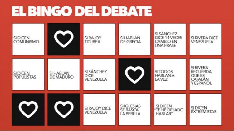 ¡Bingo y chupitos! La mejor propuesta para un debate electoral