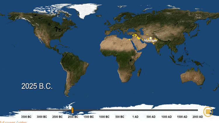 El 'Big Bang' urbano: Un mapa muestra el nacimiento de todas las ciudades en los últimos 6.000 años