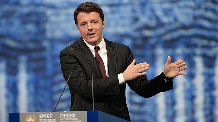 """Renzi: """"Las sanciones tienen un impacto negativo, tanto en Rusia como en Europa"""""""