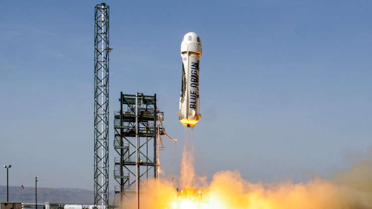 Video: aterrizaje espectacular del cohete reutilizable New Shepard