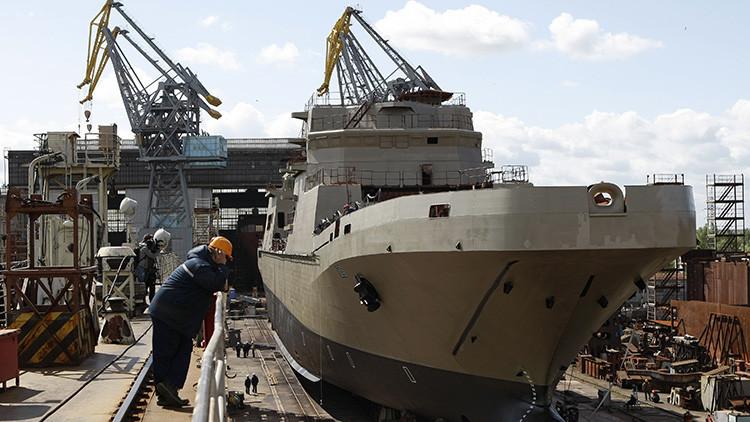 El 'Mistral' ruso llega a la Flota del Báltico para ser sometido a pruebas