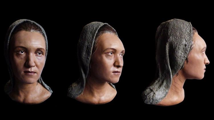Arqueólogos rusos recrean la imagen de una nómada 'extraterrestre'