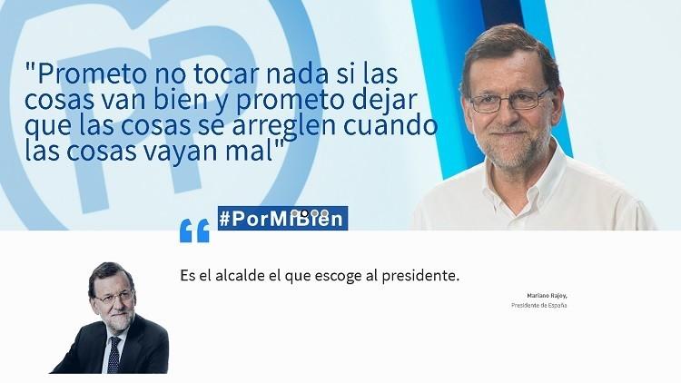 El PP amenaza con demandar a una web que parodia a Mariano Rajoy