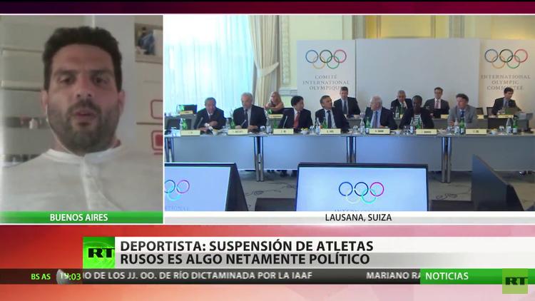 """La suspensión de los atletas rusos de cara a los juegos de Río 2016 es """"netamente política"""""""