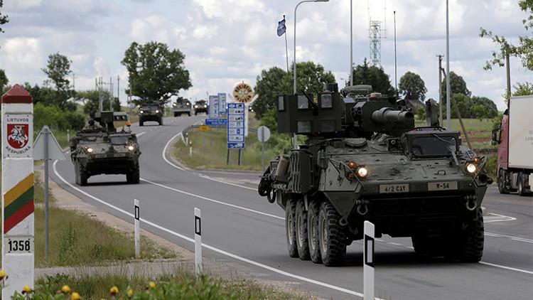 Tropas de EE.UU. cruzan la frontera entre Litiania y Letonia