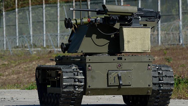 Video: El Ministerio de Defensa ruso pone a prueba varios robots de combate