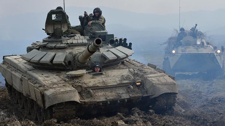 Las fuerzas aerotransportadas de Rusia recibirán los tanques T-72B3 (Video)