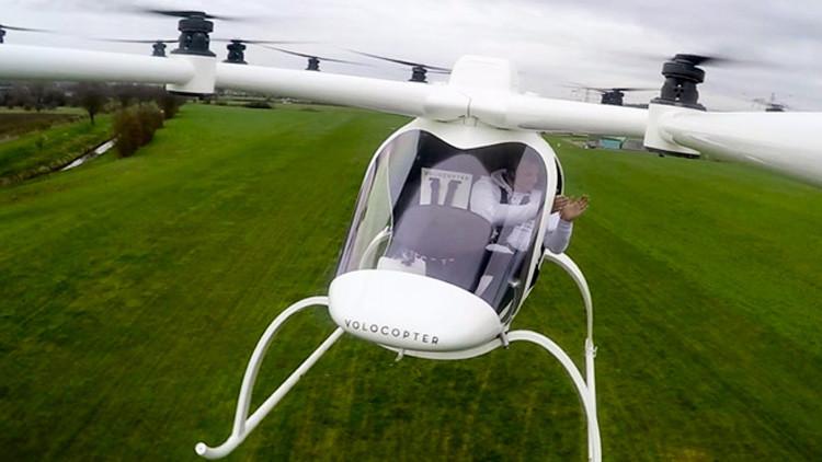 Volocopter: enorme multicóptero de pasajeros revoluciona el sistema de transporte (VIDEO, FOTOS)