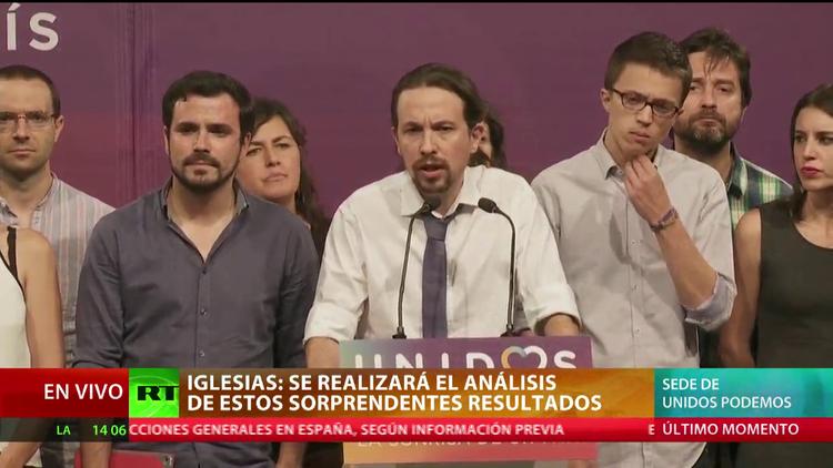 """Pablo Iglesias tras el recuento de votos: """"Tenemos que analizar los resultados"""""""