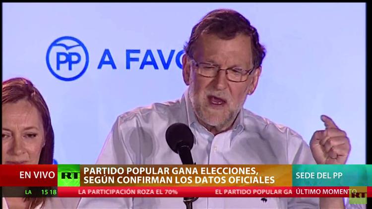 """Rajoy: """"Hemos dado muchas batallas democráticas y electorales"""""""
