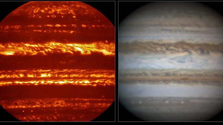 Júpiter en llamas: Impresionantes imágenes del gigante gaseoso