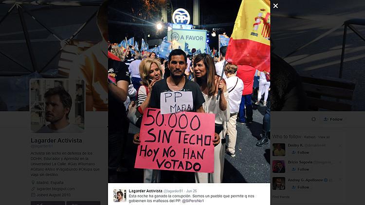 """""""Jódete, que ha ganado el PP"""": la foto viral de las elecciones del 26J"""