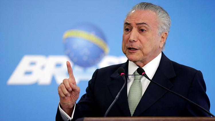 Acusan a Temer de comprar votos del Senado para derrocar a Dilma Rousseff