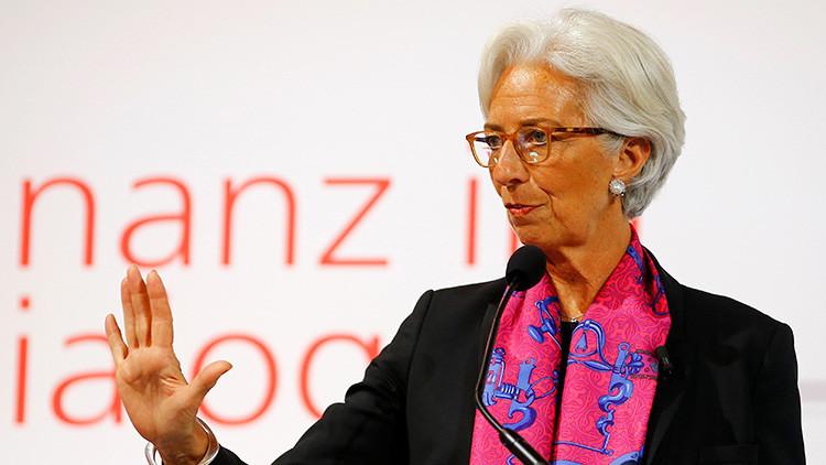 Christine Lagarde, la directora del Fondo Monetario Internacional