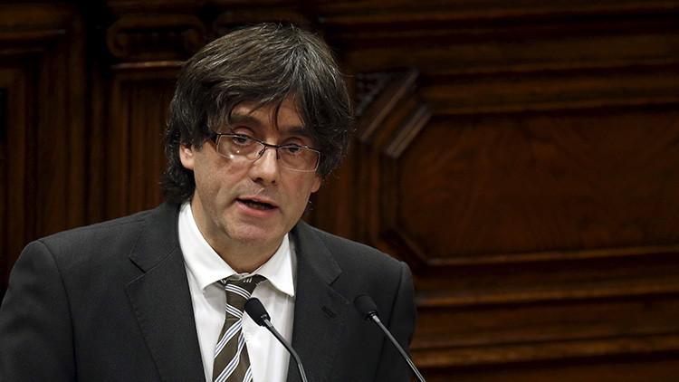 El presidente catalán llama acelerar el proceso de independencia de Cataluña