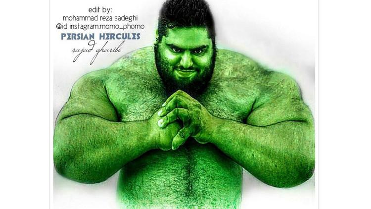 FOTOS: Conozca al 'Hulk' iraní, capaz de levantar 175 kilos