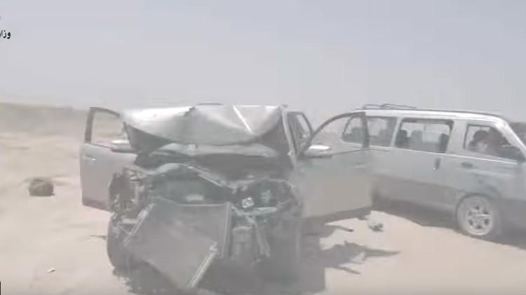 Video: 'Cazadores nocturnos' destruyen una columna de vehículos del Estado Islámico