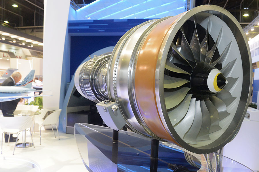 O motor turbofan PD-14 para a aeronave MS-21.