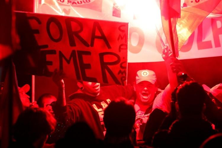 """""""Fuera, Temer"""": consigna principal de la protesta"""
