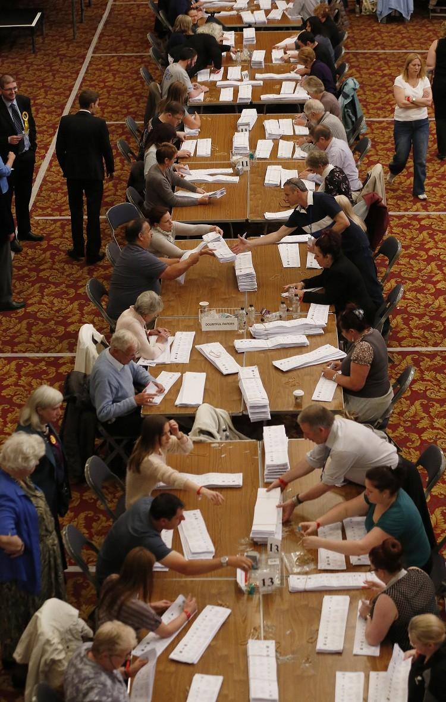 Elecciones al Parlamento Europeo en Southampton, sur de Inglaterra / 25 de mayo de 2014