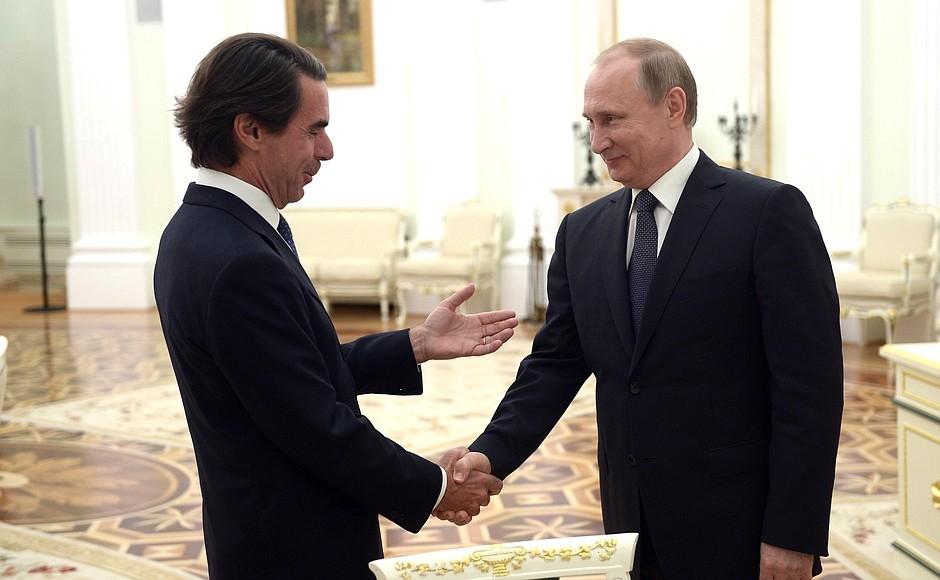 Vladimir Putin y José María Aznar en Kremlin