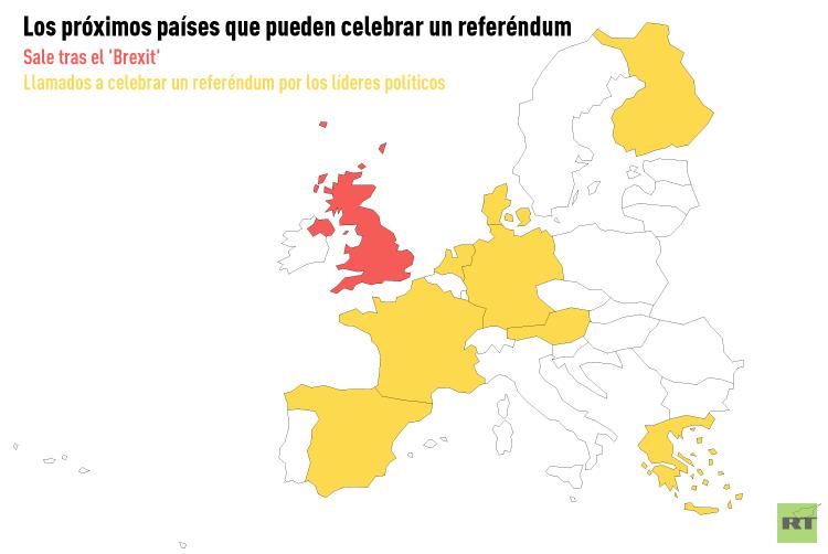 Quin ser el siguiente Mapa de pases que pueden salir de la UE