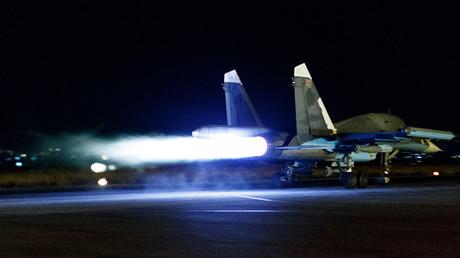 La aviación rusa en la base aérea de Jmeimim