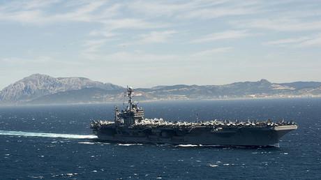 Portaaviones de la Armada de EE.UU. USS Harry Truman.