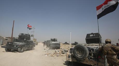 Despliegue de tropas iraquíes al sur de Faluya