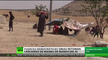 Siria: Fuerzas democráticas sirias retoman cercanías de Manbij de manos del Estado Islámico