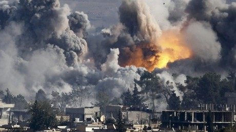Imagen ilustrativa / Ataque de la coalición occidental a Kobani en 2014
