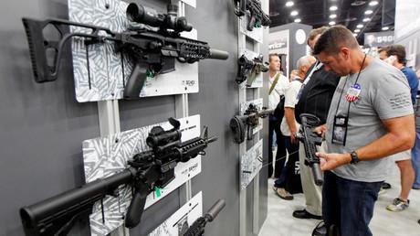 Varias armas Sig Sauers en una reunión anual de Asociación Nacional del Rifle en EE.UU. 21 de mayo del 2016.