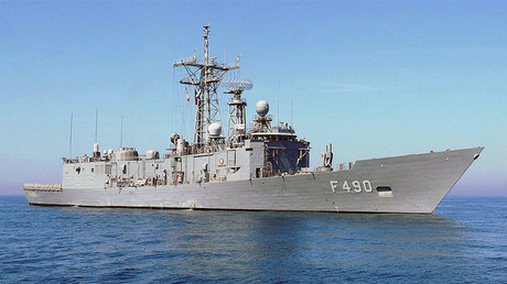 La fragata turca F-490 TCG Gaziantep
