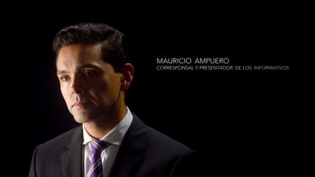 Mauricio Ampuero, corresponsal y presentador de los informativos