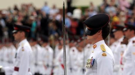 Los cadetes de una escuela militar durante un desfile en Australia