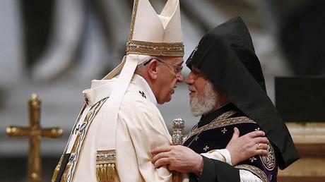 El papa Francisco y Catholicós Karekin II
