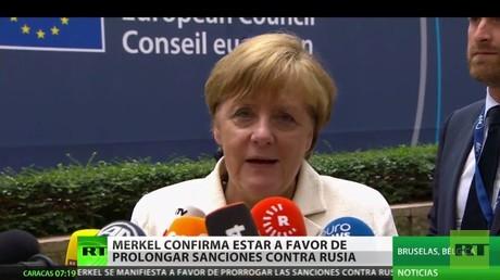 Angela Merkel no ve obstáculos para extender las sanciones contra Rusia