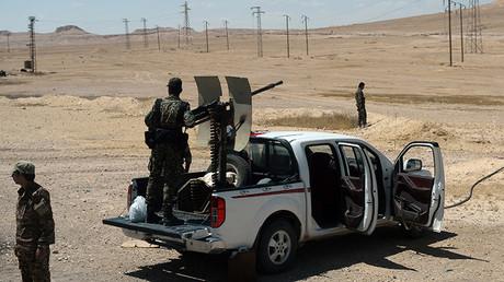 Imagen ilustrativa. Militares del Ejército sirio en un puesto de control en Palmira.