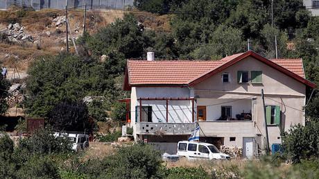 La casa en donde un adolescente palestino apuñaló y mató a una joven de 13 años, asentamiento de Kiryat Arba, Cisjordania
