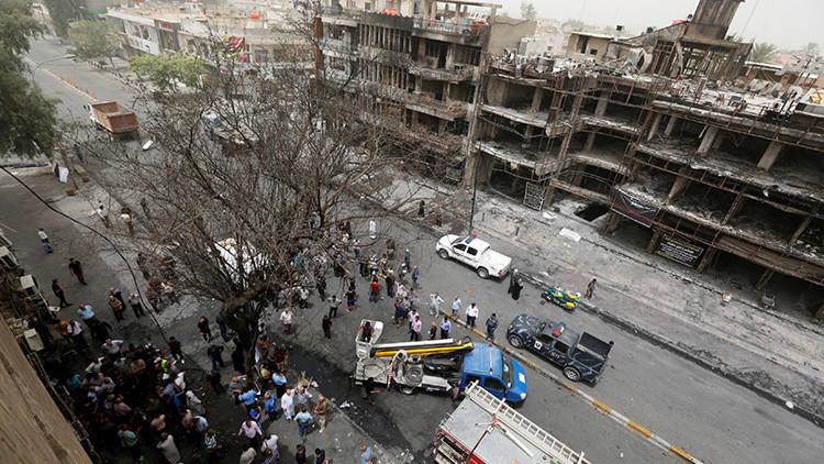 El escenario del atentado más mortífero en años en Irak a vista de dron (VIDEO)